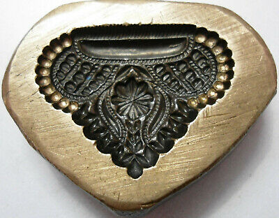 VINTAGE - INDIA Hand Engraved - Jewelry Maker's - Beautiful Pendent Die Mold