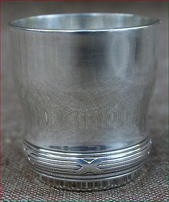 French Silver Plated Ribbons Shooter Shot Glass Goblet Tumbler 1960's