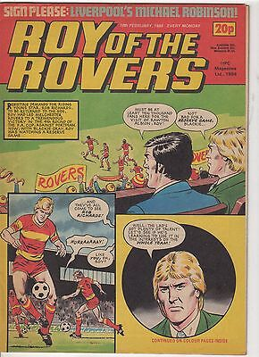 (-0-) Roy Of The Rovers Comic 18Th February 1984 & Atari Moon Patrol Advert Game