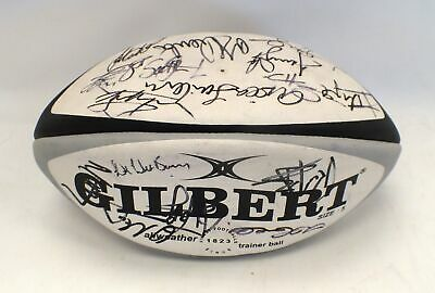 Signed Gilbert Rugby Ball 2003 Barbarians Tour Squad LSF Charity Ball - N42