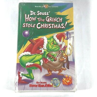 Dr. Seuss' How The Grinch Stole Christmas 2000 VHS Tape NEW / SEALED Warner Bros