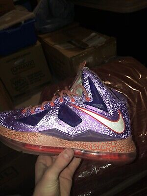 47458fbec8e7e NIKE LEBRON X 10 All Star. Area 72. Extraterrastrial. Size 8. Worn A ...