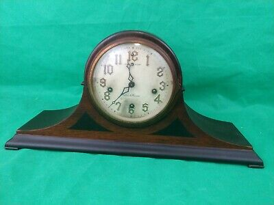 VINTAGE ANTIQUE NEW HAVEN MANTEL CLOCK MODEL TOLEDO MADE IN THE 1920s USA