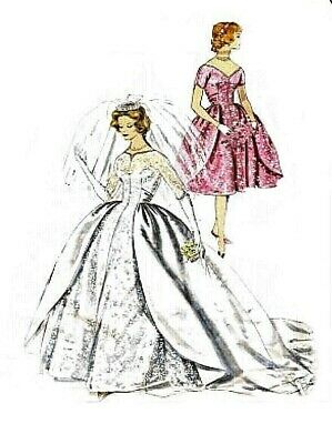 162 Wedding Gown With Over Skirt For Fashion Dolls