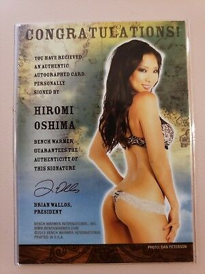 Playboy Benchwarmer Hiromi Oshima Playmate Treasure Chest Autographed Card