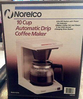 Norelco 10 Cup HB 5183 Coffee Maker NEW