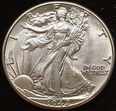 Awesome Uncirculated Ch BU 1942 Walking Liberty Half Dollar. Nice Album Coin! #2