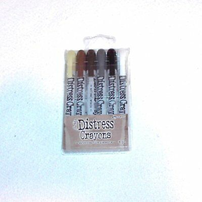 Ranger Distress Crayons - 6 Pieces - Water Reactive Pigments - Pkg #3
