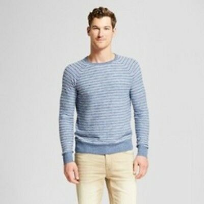 4a4891203a GOODFELLOW & CO Knit Pullover Sweater 2XL Blue Striped Mens New Wool ...