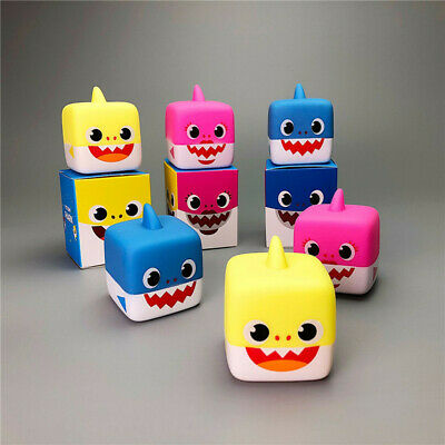 Baby Shark Singing English Song Kid Cube Silicone Waterproof Toy Light Swim Doll