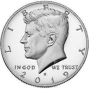 2019-S 90.0% Silver Proof Kennedy Half Dollar Coin-Deep Cameo