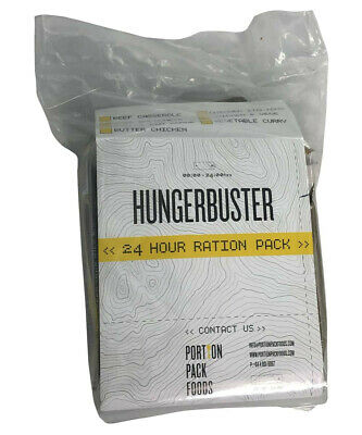 Hungerbuster Combo Hot Meal Pack - 24 hour Ration Pack MRE