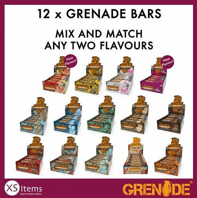 Grenade Carb Killa Protein Low Carb Sugar Bars Mixed Half + Half Boxes 12 x 60g
