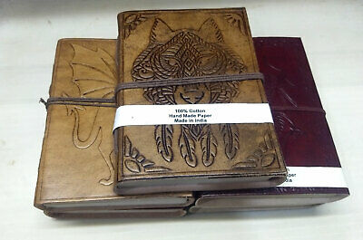 Indian Vintage Journal Notebook Schedule Planner Diary Leather Diaries 5pc Lot