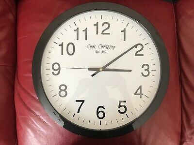 Wm. Widdop Black Classic Wall Clock