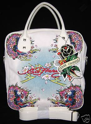 Ed Hardy Blanc Ines Magnifique Ghost Grand Gym Voyage Sac Fourre-Tout