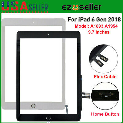 A1893 A1954 For iPad 6 6th Touch Screen Glass Digitizer Replacement+Home Button