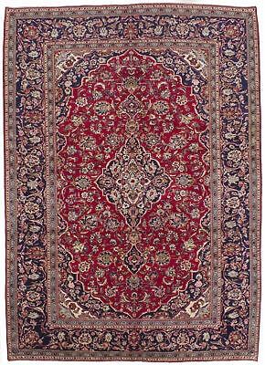 "Hand-knotted Carpet 6'9"" x 10'0"" Traditional Vintage Wool Rug"