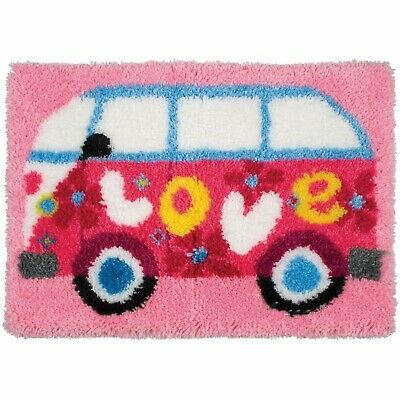 Camper Van Love Latch Hook Rug Kit, Brand New