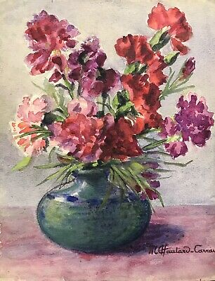 MARIE CHAUTARD-CARREAU - FLOWERS IN VASE - FINE EARLY 20thC FRENCH IMPRESSIONIST