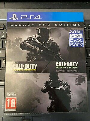 * Playstation 4 Game * CALL OF DUTY: INFINITE WARFARE WITH LEGACY PRO STEELBOOK