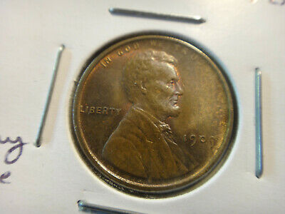 1909 V.D.B. Gem BU Red Lincoln Wheat Penny Cent 1c - Free S&H USA
