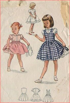 1950s Vintage One-Piece Blouse Petticoat Slip Skirt Weskit Sewing Pattern Sz 1