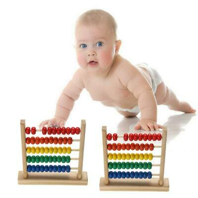 Rainbow Wooden Counting Bead Abacus Toy Counter Educational LO