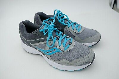 55b93dad SAUCONY COHESION 10 Running Shoes Women's Grey Blue Size US 7.5 EU ...