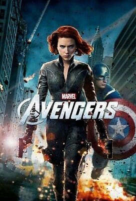 The Avengers poster - Scarlett Johansson poster 11 x 17 inches Black Widow (b)