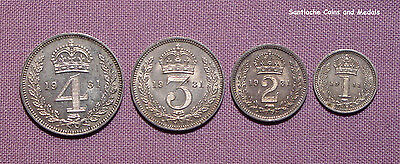 1931 KING GEORGE V SET MAUNDY COINS - 4d to 1d - Only 1,759 Issued