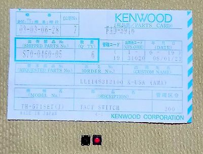 Neuf Oem Kenwood S70-0460-05 Tact Tactile Interrupteur pour Th-G71a