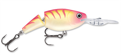 PTU Rapala Wobbler Jointed Shad Rap 7cm JSR07 Pink Tiger UV