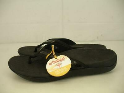 8956df7bec27 Womens 9 M Vionic with Orthaheel Tide Black Thong Comfort Sandals Slip-On  Shoes