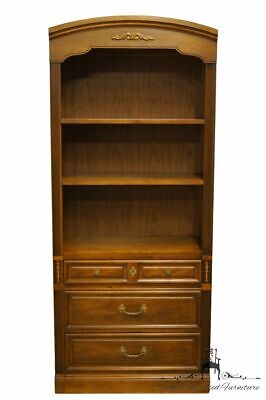 "DIXIE FURNITURE Walnut Italian Provincial Style 32"" Open Bookcase / Wall Unit..."