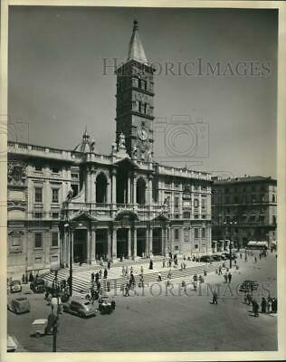 1954 Press Photo The Basilica of St. Mary Major in the city of Rome in Italy