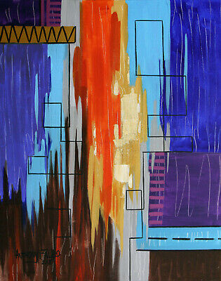 Pentecost Acts 2-2-4 Original Abstract Painting Holy Spirit Anthony R Falbo