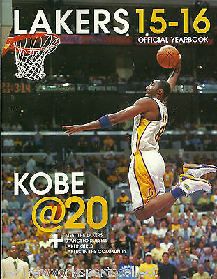 2015-16 Los Angeles Lakers Yearbook Kobe Bryant Retirement In Stock New