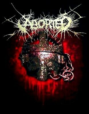 ABORTED cd lgo EXCISE THE WOMB Slaughter Official SHIRT LAST SMALL New oop