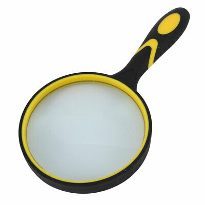 Magnifying Glass Book Rubber Handheld Illuminated Magnifier 2.5X