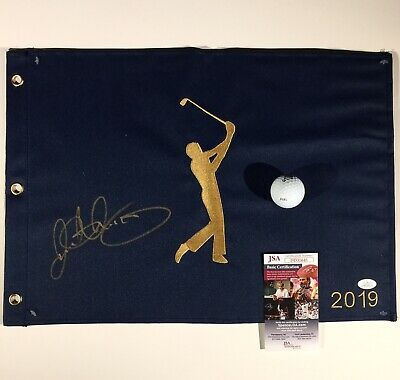 Rory Mcilroy Autographed Signed 2019 Players Championship Pin Flag Jsa Coa Flags