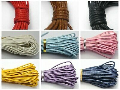 30 Meters Waxed Cotton Beading Cord Thread Line 2mm Jewelry Making String