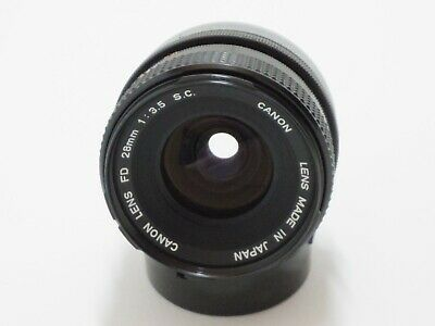 [EX+++] Canon FD 28mm f3.5 S.C. SC Lens with Filter and Rear Cap from JP
