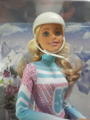 Made To Move Barbie Pink Passport Skier Doll Nrfb
