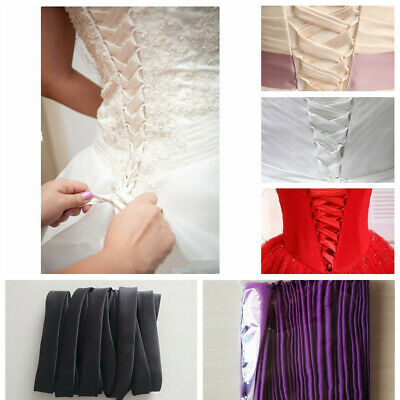 satin corset kit wedding gown replace zipper  all colors