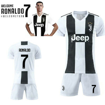 reputable site 51c8a e2c29 18-19 JUVENTUS HOME Cristiano Ronaldo White Soccer Shirt CR7 Football  Jersey AU