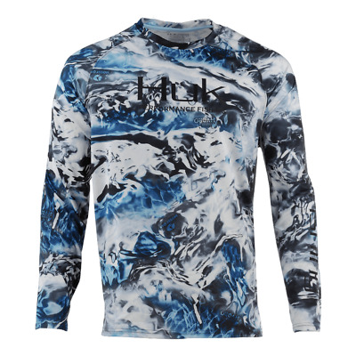 HUK Performance Fishing Pursuit Camo Vented LS Tops, Long Sleeve: H1200154-098-L