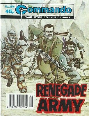 Renegade Army,commando War Stories In Pictures,no.2646,war Comic,1993