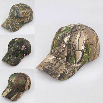 Unisex Camouflage Cap Camo Baseball Hunting Fishing Army Sun Hat Adjustable AU