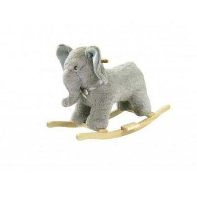 Cuddles Rocking Ride on Animal Ellie the Elephant - Grey -Suitable for 12 Month+